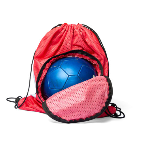 the soccer bag with ball carrying pouch